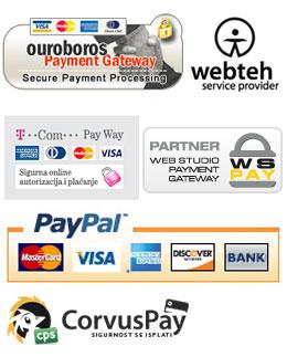 Neki od Payment Gateway sustava koje koristimo